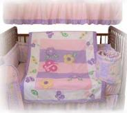 baby crib bedding set with silk comforter
